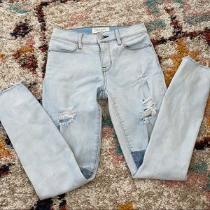 PacSun Patched Distressed Ankle Jeggings